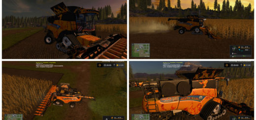 Мод комбайн CR1090NewHolland V 2.0 Farming Simulator 2017