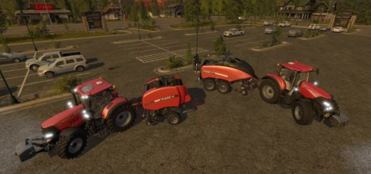 Мод тюкопрессы Case IH Baler Pack v1.1 Farming Simulator 2017