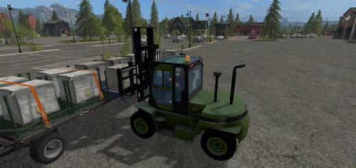Мод погрузчик Clark C80D v 1.0 Farming Simulator 2017