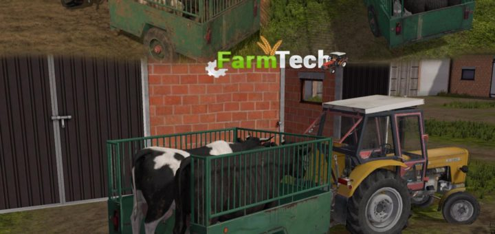 Мод прицеп DRAY LIVESTOCK V1.0 Farming Simulator 2017