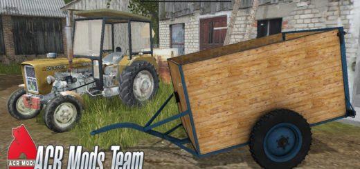 Мод прицеп Dwukolka v 1.0 Farming Simulator 17