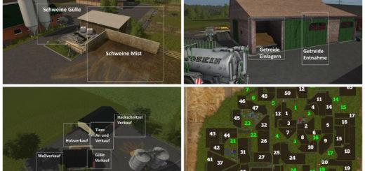 Мод карта Ebsdorfer Heide Map v 1.0 Farming Simulator 2017
