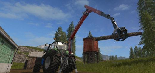 Мод Epsilon Palfinger M80F Mounted Crane for Tractors v 1.3 Farming Simulator 17