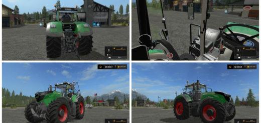 Мод трактор Fendt 1000 Vario v 1.3 Farming Simulator 2017