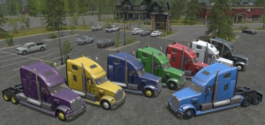 Мод тягач Freightliner Coronado v 1.3 Farming Simulator 2017