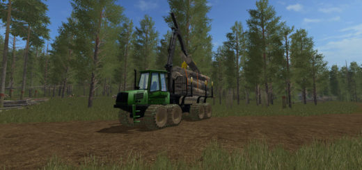 Мод FS1485 Forwarder with Autoload Автозагрузка v 1.0 Farming Simulator 2017