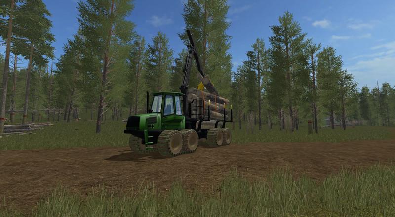 Мод FS1485 Forwarder with Autoload Автозагрузка v 1.0 Farming Simulator 2017