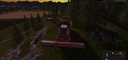 Мод комбайн Grimme Tectron 415 v 2.0 Farming Simulator 2017