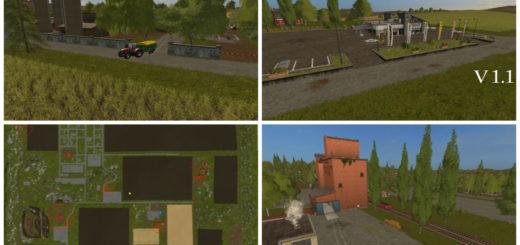Мод карта Big Hills Map 17 v 1.1 Farming Simulator 2017