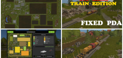 Мод карта Big Hills Map Train Edition v 1.0 Farming Simulator 2017