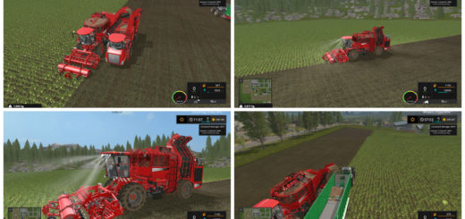 Мод комбайн Holmer TerraDos T4-30 v 3.1 Fix Farming Simulator 2017