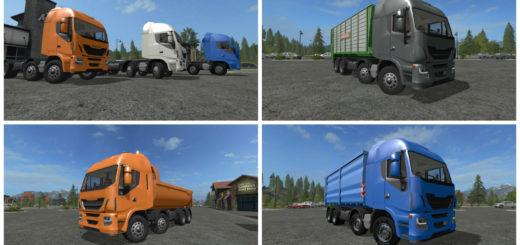 Мод грузовик Iveco Hiway HKL 8x8 v 2.0 Farming Simulator 2017