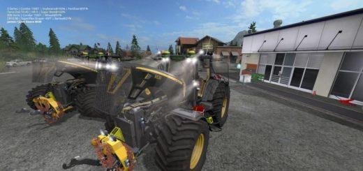 Мод трактор John Deere 8530 Black Shadow Pack v 2.1 Farming Simulator 17