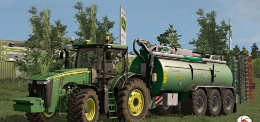 Мод трактор John Deere 8R EDIT v 1.0 Farming Simulator 2017