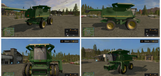Мод комбайн John Deere 9770 W/NO Headers v 1.0.1 Farming Simulator 2017
