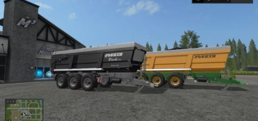 Мод прицеп Joskin Trans Space 8000 BlackLine Farming Simulator 2017