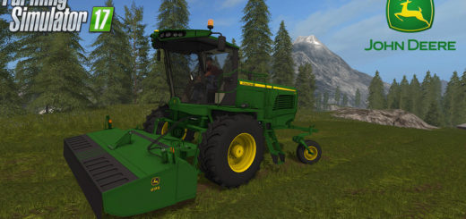 Мод John Deere W260 Windrower Pack v 1.2 Farming Simulator 17