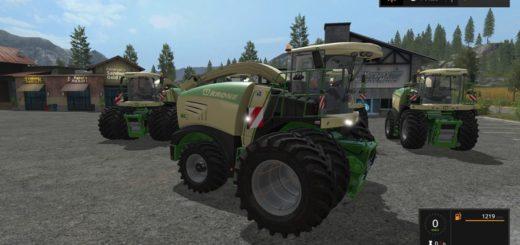 Мод комбайны Krone BiGX 480 - 630 V 1.1.0.0 Farming Simulator 17