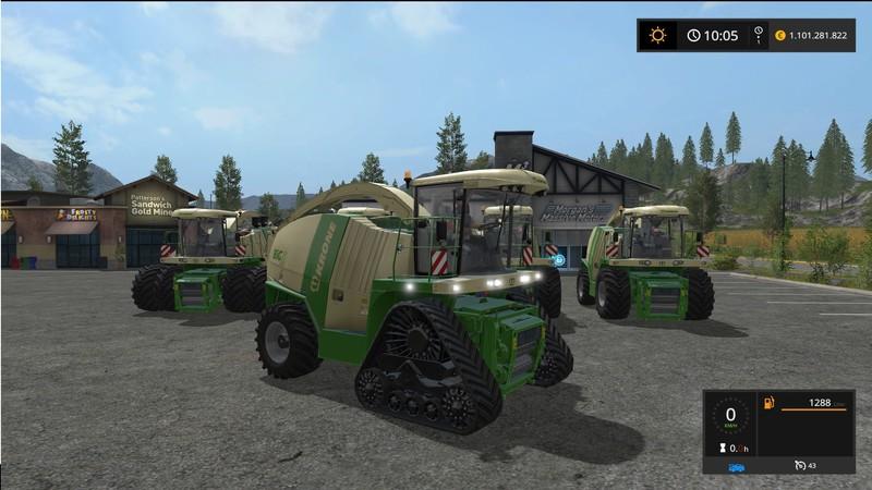 Мод комбайны Krone BiGX 700 - 1100 V 1.1.0.1 Farming Simulator 2017