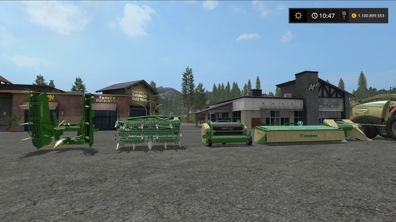 Мод жатки Krone BiGX Anbaugeräte V 1.1.0.1 Farming Simulator 2017