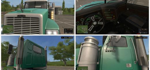 Мод тягач Lizard SX 210 TwinStar v 1.3.0.1 Farming Simulator 17