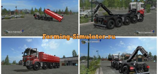 Мод грузовик MAN A Helmer HKL v 2.2 Farming Simulator 17