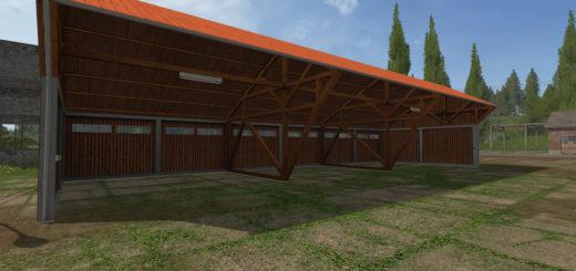 Мод навес Machinery shelter with lighting v 1.0 Farming Simulator 2017