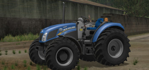 Мод трактор New Holland T4 75 Garden Edition v 1.2 Farming Simulator 17
