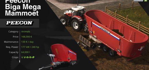 Мод Peecon Biga Mega Mammoet v 1.0 Farming Simulator 2017