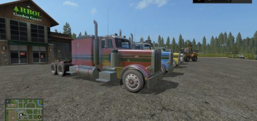 Мод Peterbilt 379 Flat Top v 1.0 Farming Simulator 2017