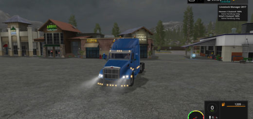 Мод тягач Peterbilt 579 v 2.0 Farming Simulator 17