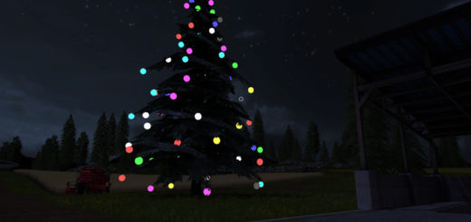 Мод новогодняя ель Placeable Christmas Tree v 1.0.0.0 Farming Simulator 17