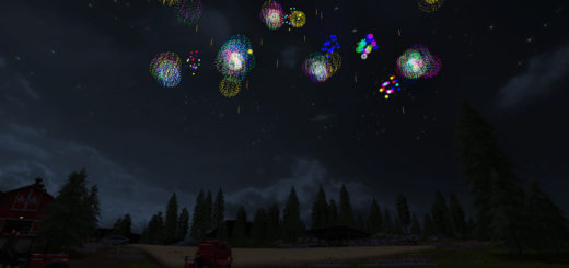 Мод фейерверк Placeable Firework v 1.0 Farming Simulator 2017