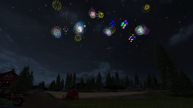 Мод фейерверк Placeable Firework v 1.0 Farming Simulator 2017