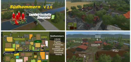 Мод карта Sudhemmern Map v 2.0 Farming Simulator 2017