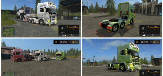Мод тягач Scania V8 Old School v 1.0 Farming Simulator 17