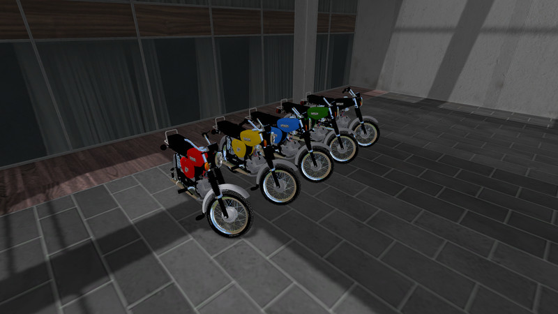 Мод мотоцикл Simson S 51 E v 1.0 Farming Simulator 17