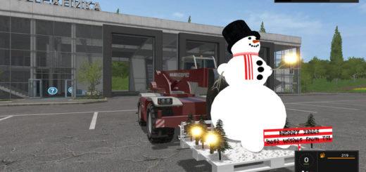 Мод Snowman v 1.0 Farming Simulator 17
