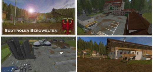 Мод карта Sudtiroler Bergwelten V 3.0 Farming Simulator 17