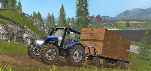 Мод прицеп UAL Fliegl DPW 180 / boards Palette v 1.0 Farming Simulator 2017
