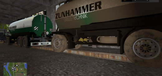 Мод бочка Zunhammer Slurry Transportation v 1.0 Farming Simulator 2017