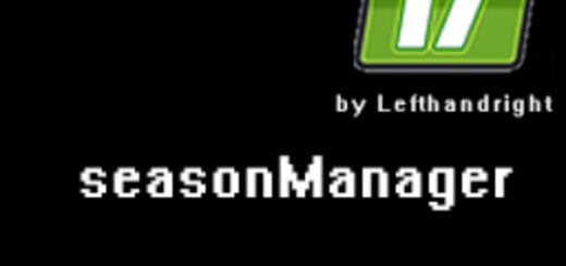 Мод скрипт SeasonManager V 0.1.1 Farming Simulator 2017