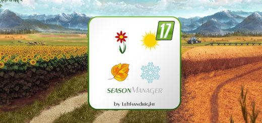 Мод скрипт SeasonManager V0.3 Farming Simulator 17
