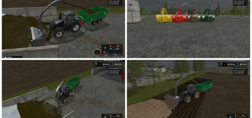 Мод фрезерный погрузчик Silage cutter v1.1 Fix Farming Simulator 2017