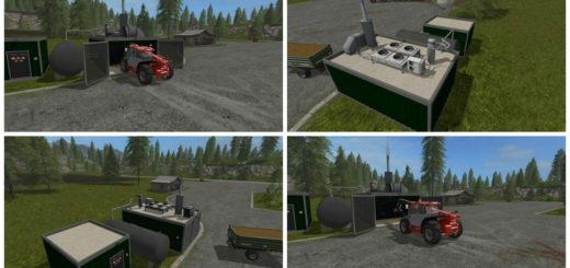 Мод BGA BIOGAS HOFANLAGE V1 Farming Simulator 2017