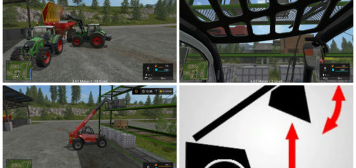 Мод скрипт Frontloader Display V 1.1 Farming Simulator 2017