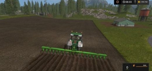 Мод плуг Large plow v 1.0 Farming Simulator 2017