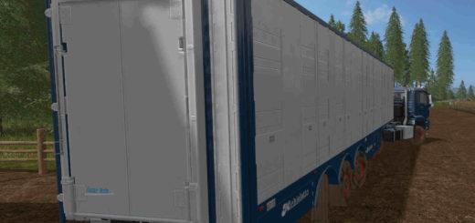 Мод прицеп Michieletto AM19 Livestock Trailer v 1.0 Farming Simulator 17