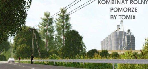 Мод карта Kombinat Agricultural Pomerania v 1.0 Farming Simulator 17