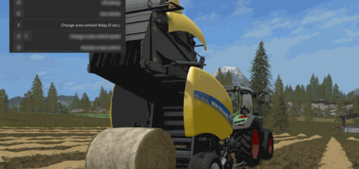 Мод скрипт Automatic unload for round-balers v 1.0.2.21 Farming Simulator 2017